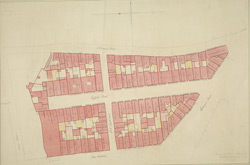 [Drawn plan of Suffolk Street, Haymarket and adjoining property between Cockspur Street and Whitcomb Street]